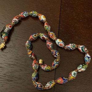 Antique multi colored necklace